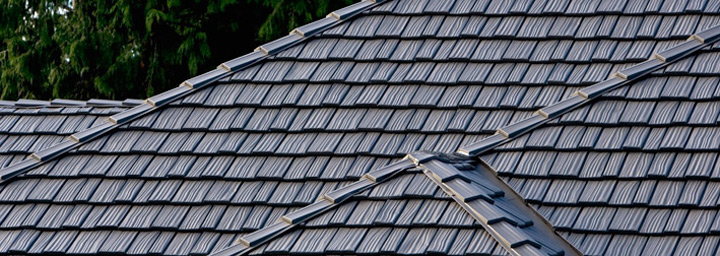 Grey Metal Shingles