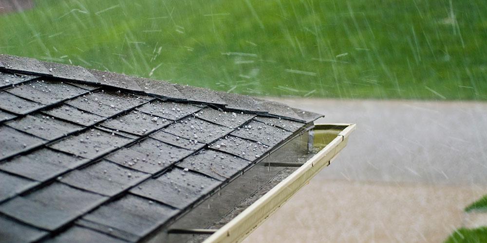 hail on metal roof
